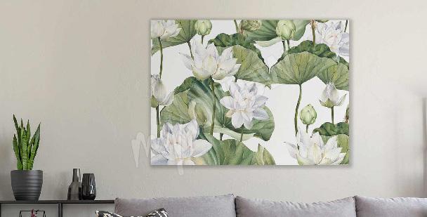 Image aquarelle fleur de lotus
