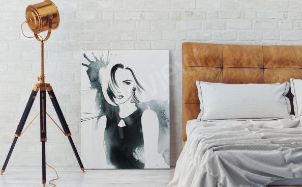 Image aquarelle noir et blanc