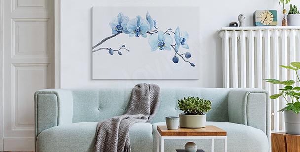 Image aquarelle orchidée