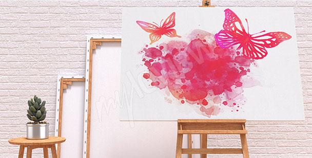 Image aquarelle papillons