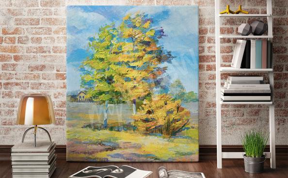 Image arbre dans une clairière