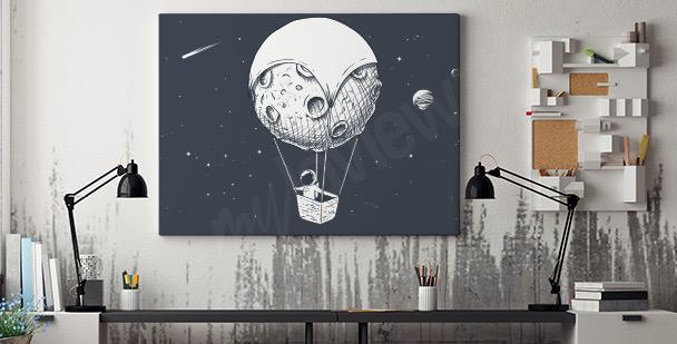 Image astronaute et lune
