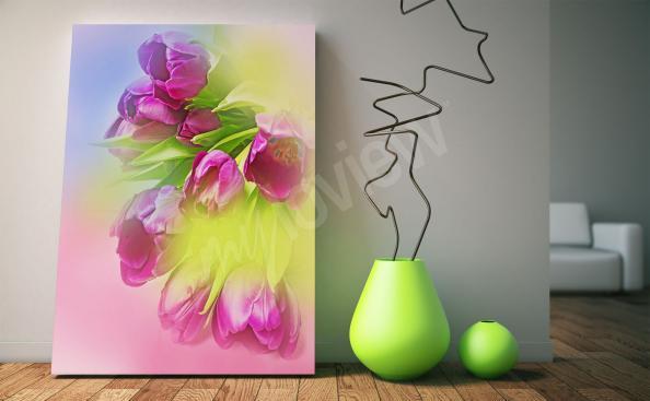 Image avec bouquet de tulipes