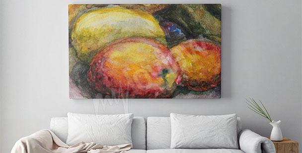 Image avec des fruits pour salon