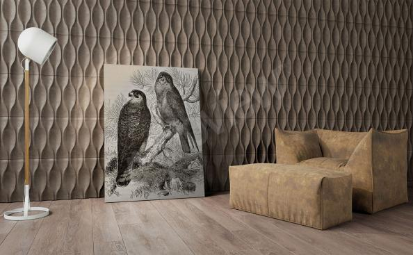Image avec des oiseaux en noir et blanc