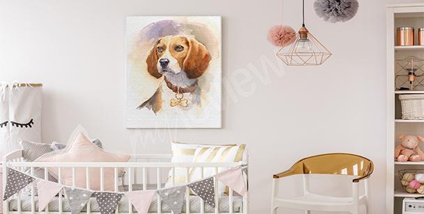 Image de chien pour une chambre d'enfant