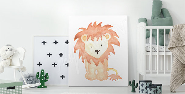Image avec un dessin de lionceau