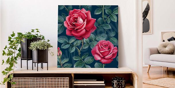 Image rose noir et blanc