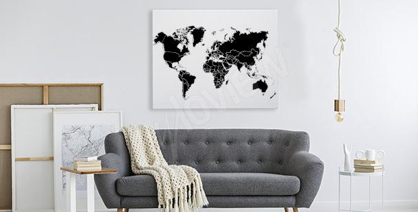 Image avec une carte du monde