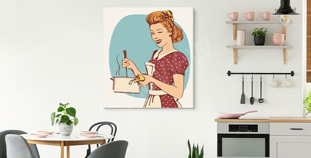 Image avec une femme pour cuisine