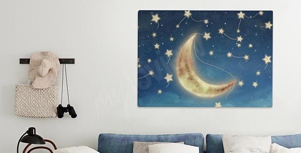 Image avec une lune éclairée