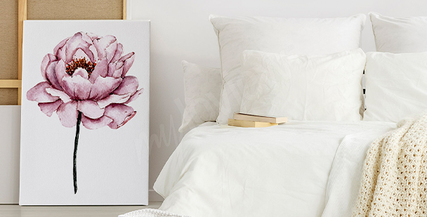 Image avec une pivoine rose