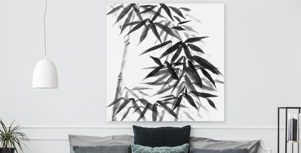 Image bambou en noir et blanc