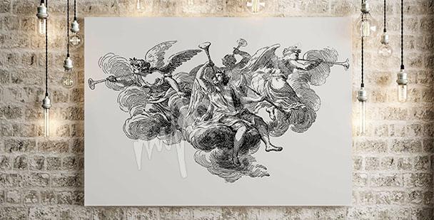 Image baroque avec des anges