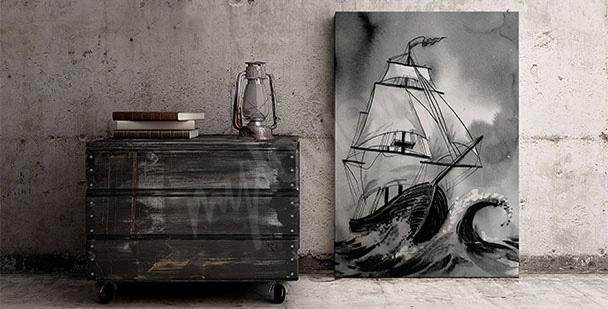 Image bateau sur la mer