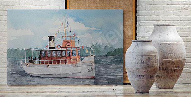 Image bateau sur un lac