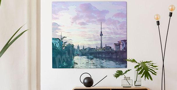 Image Berlin  au coucher du soleil