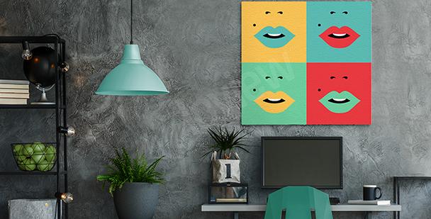 Image bouche en quatre couleurs