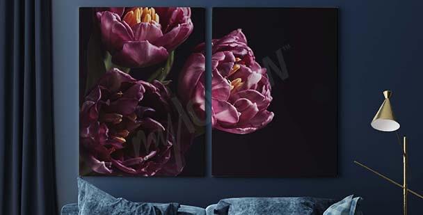 Image bouquet mauve