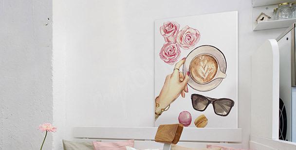 Image café au féminin