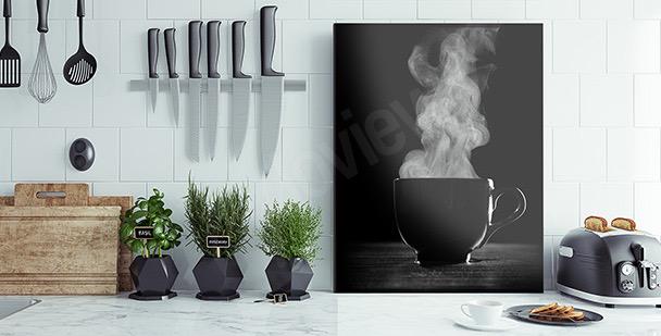 Image café en noir et blanc