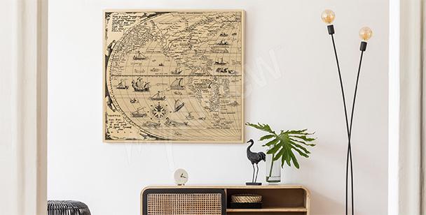 Image carte ancienne illustrée