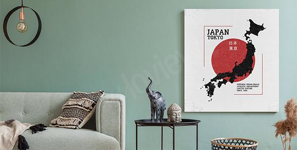 Image carte du Japon