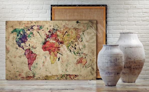 Image carte du monde en couleur