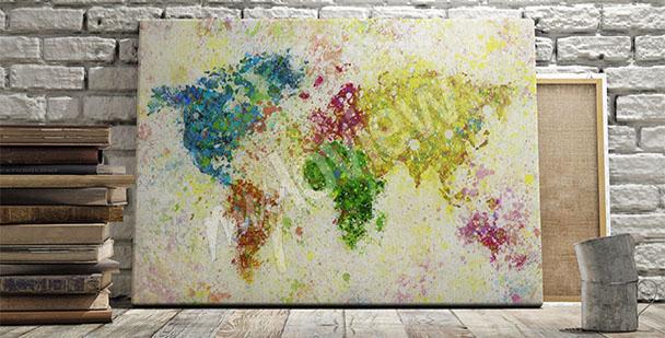 Image carte du monde en papier
