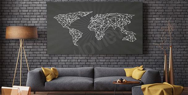 Image carte du monde minimaliste
