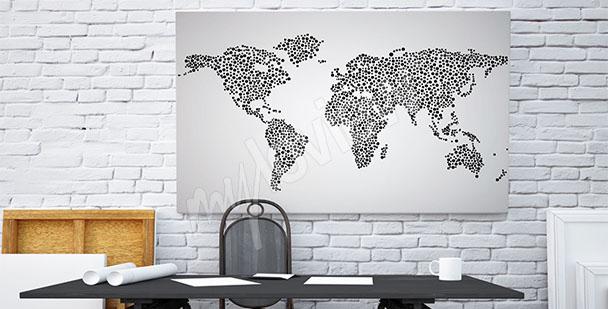 Image carte du monde noir et blanc