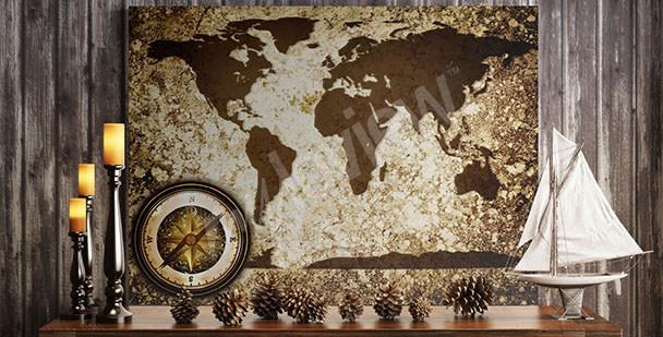 Image carte du monde rétro