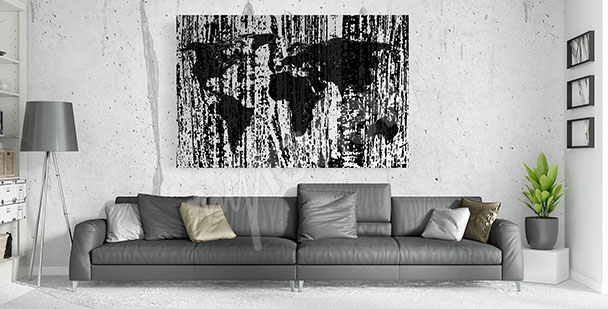 Image carte en noir et blanc