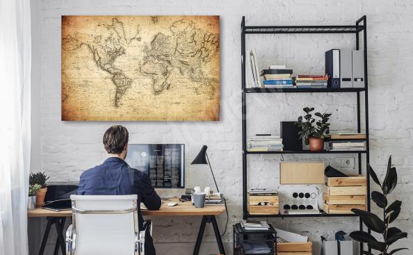 Image carte rétro pour un bureau