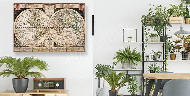 Image cartographique à l'ancienne