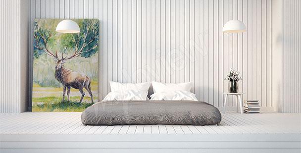 Image cerf pour chambre à coucher