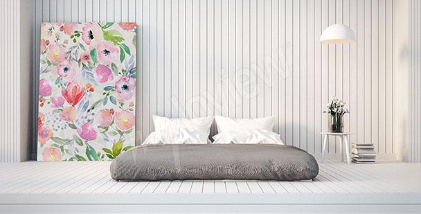 Image chambre à coucher fleurs