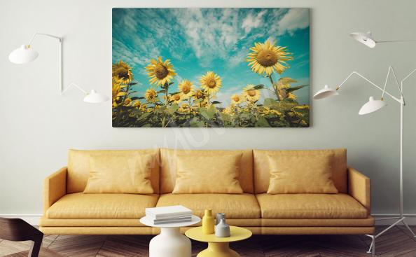 Image champ de tournesols pour salon