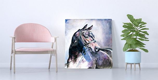 Image cheval aquarelle