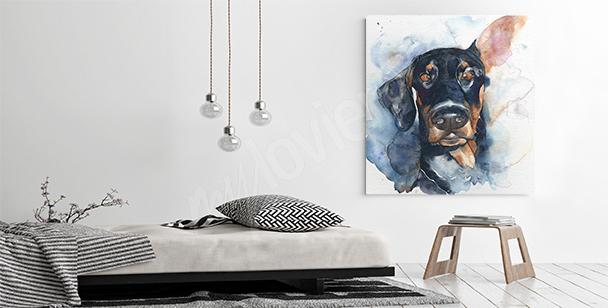 Image portrait de chien pour un salon