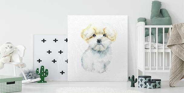 Image chien pour chambre d'enfant