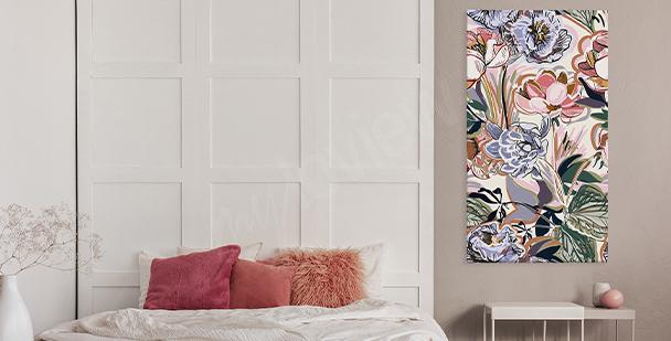 Image colorée floral style