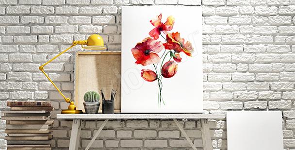 Image coquelicots aquarelle