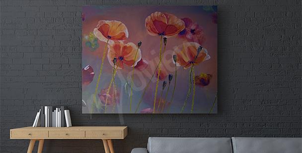 Image coquelicots peinture
