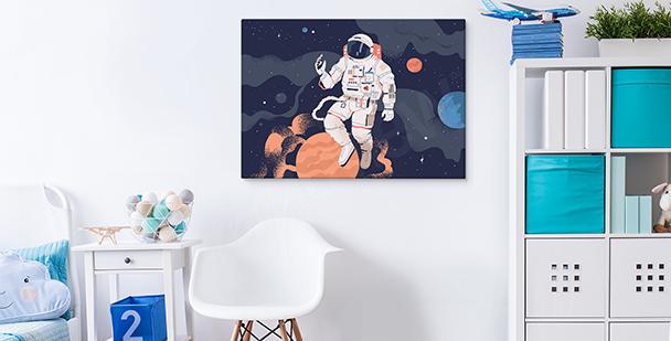 Image cosmos et astronaute