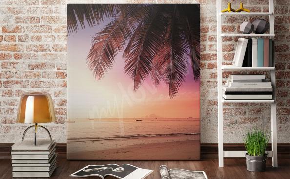 Image coucher de soleil sur la mer