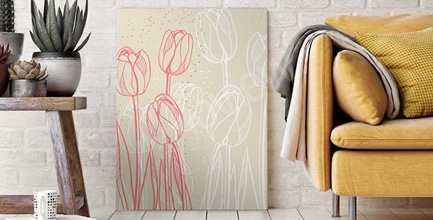 Image croquis de fleurs
