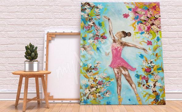 Image danse et fleurs