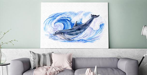 Image dauphin dans les vagues