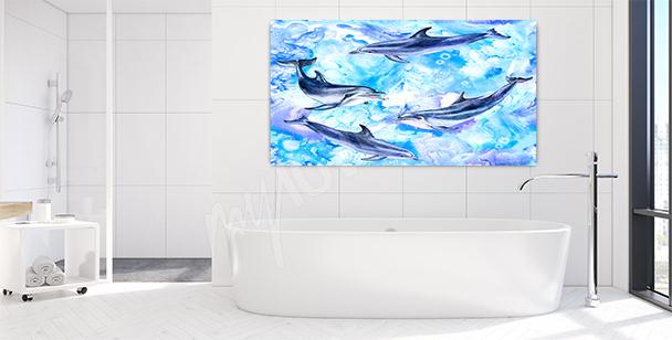 Image dauphin pour une salle de bains